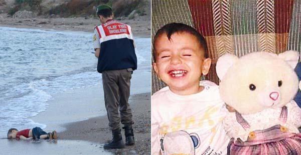 叙利亚3岁小难民伏尸海滩照片震动欧洲