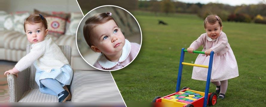 夏洛特公主1岁啦!凯特王妃为爱女拍生活照