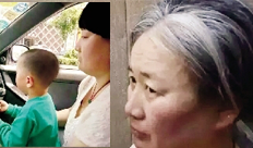 女子拐骗男童后染白发扮成老太太